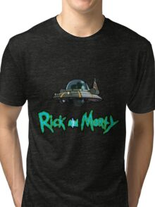 Space Ship Tri-blend T-Shirt