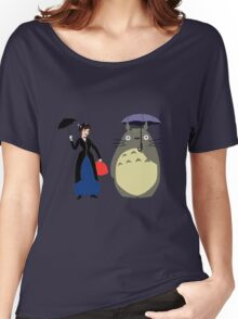 Mary Poppin and totoro umbrela Women's Relaxed Fit T-Shirt