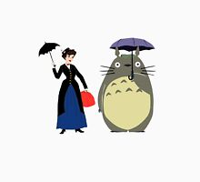 Mary Poppin and totoro umbrela Unisex T-Shirt