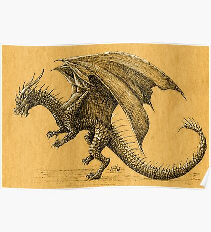 Ink Dragon  Poster