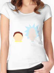 RickMorty Women's Fitted Scoop T-Shirt