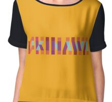 OKINAWA BINGATA COLOR TYPOGRAPHY Chiffon Top