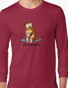Calvin and Hobbes hug Long Sleeve T-Shirt