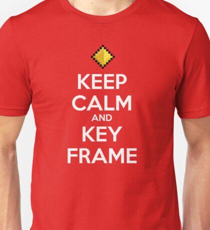 Keep Calm and Keyframe (White Type) Unisex T-Shirt