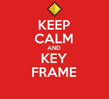 Keep Calm and Keyframe (White Type) Unisex T-Shirt