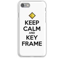 Keep Calm and Keyframe (Black Type) iPhone Case/Skin