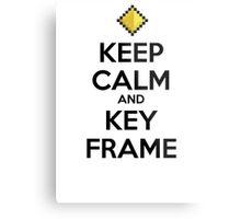 Keep Calm and Keyframe (Black Type) Metal Print