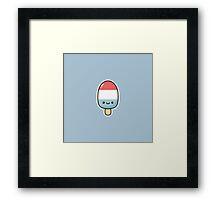 Kawaii popsicle Framed Print