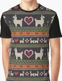 Llama Knit Graphic T-Shirt