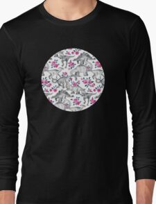 Dinosaurs and Roses – white Long Sleeve T-Shirt