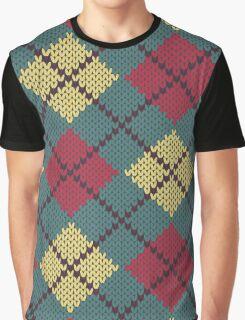Retro Knit Argyle Graphic T-Shirt