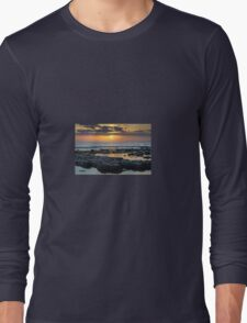Sunset at Cwm Nash along the Glamorgan Heritage Coast Long Sleeve T-Shirt