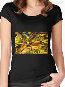 """Organic Urban Renewal"" Women's Fitted Scoop T-Shirt"