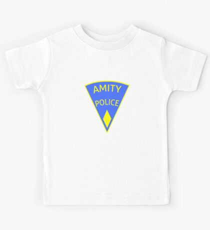 Jaws Amity Police patch Kids Tee