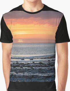 Cwm Nash Sunset, Wales UK Graphic T-Shirt