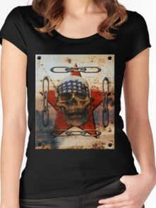 Rust USA SKULL Women's Fitted Scoop T-Shirt