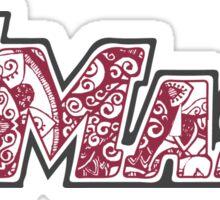 UMass Doodle Sticker