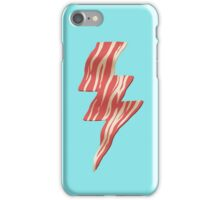 powered by bacon iPhone Case/Skin