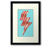 powered by bacon Framed Print