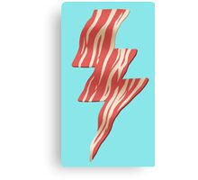 powered by bacon Canvas Print
