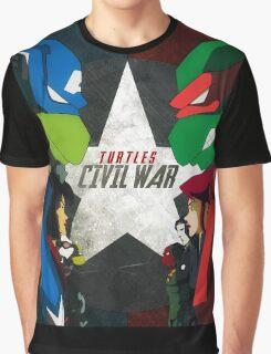 Turtles Civil War Graphic T-Shirt