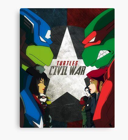 Turtles Civil War Canvas Print