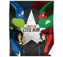 Turtles Civil War Poster