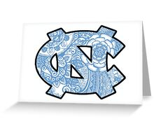 UNC Chapel Hill Doodle Greeting Card