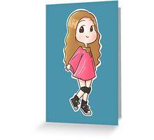 Tiffany I just wanna dance chibi Greeting Card