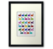 ABC Cats Framed Print