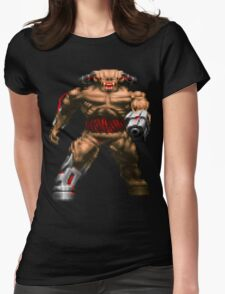 Doom Cyberdemon Womens Fitted T-Shirt