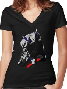 Panthro - distressed Women's Fitted V-Neck T-Shirt