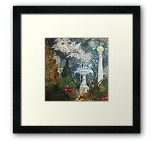 Plaza Park Fountain - Orange, CA Framed Print