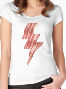 powered by bacon Women's Fitted Scoop T-Shirt
