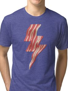 powered by bacon Tri-blend T-Shirt