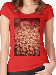 Abstract Flower 3 Women's Fitted Scoop T-Shirt