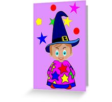 A Boy Wizard  – No6d in the Toon Boy series Greeting Card