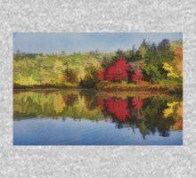 Reflecting on Fall - Autumn Lake Impressions Kids Tee