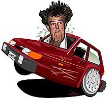 Reliant Robin Jeremy Clarkson caricature Photographic Print