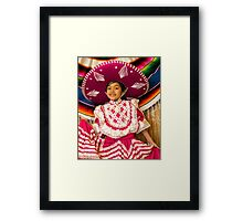 The Sombrero in Pink Framed Print