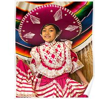The Sombrero in Pink Poster