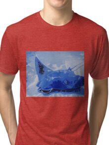 Blue Sting Ray Tri-blend T-Shirt