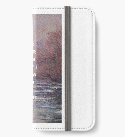 If I Could Fly Lyrics x Claude Monet iPhone Wallet/Case/Skin
