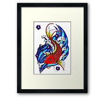 the Carp Framed Print