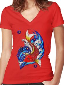 the Carp Women's Fitted V-Neck T-Shirt
