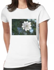 White Platycodon Star Womens Fitted T-Shirt