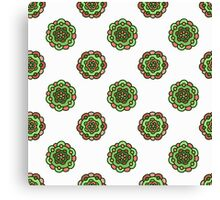 seamless colorful doodle floral pattern Canvas Print