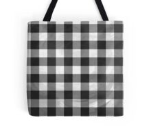 Checkered Plaid Black And White  Tote Bag