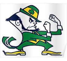 Fighting Irish Leprechaun Mascot Poster