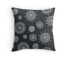 cute seamless doodle floral pattern Throw Pillow